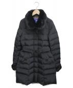 BLUE LABEL CRESTBRIDGE(ブルーレーベルクレストブリッジ)の古着「ベルテッドダウンコート」|ブラック