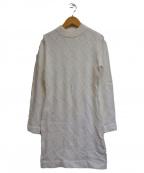 eimy istoire()の古着「ESロゴ刺繍ニットワンピース」|ホワイト