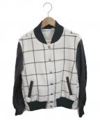 sacai luck(サカイラック)の古着「バックフレアスタジャン」|ホワイト