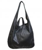 GALLARDA GALANTE(ガリャルダガランテ)の古着「ポーチ付きBIGトートバッグ」 ブラック