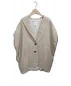 ()の古着「リネン混オーバーサイズベストジャケット」|ベージュ