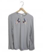 STELLA McCARTNEY()の古着「鳥刺繍ブラウス」|ライトグレー