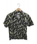 ()の古着「総柄オープンカラーシャツ」|ブラック