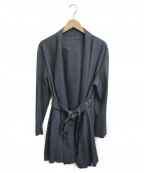 LANVIN COLLECTION(ランバンコレクション)の古着「ガウンコート」|グレー