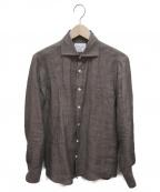 Brilla per il gusto(ブリッラ ペル イルグースト)の古着「ALBINIリネンカッタウェイシャツ」|ブラウン
