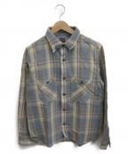 FULLCOUNT(フルカウント)の古着「チェックシャツ」 イエロー