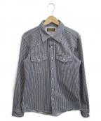 IRON HEART(アイアンハート)の古着「ヒッコリーウエスタンシャツ」 インディゴ