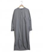1er Arrondissement(プルミエ アロンディスモン)の古着「バンドカラーシャツワンピース」|グレー