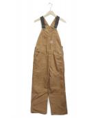 CarHartt(カーハート)の古着「ダック地オーバーオール」|ブラウン