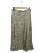 ()の古着「レオパード柄スカート」 イエロー
