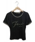 FENDI(フェンディ)の古着「半袖Tシャツ」|ブラック