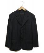 ()の古着「製品洗い加工ウールギャバ3Bジャケット」|ブラック