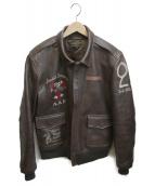 AVIREX(アヴィレックス)の古着「A-2ジャケット」|ブラウン