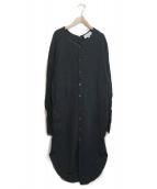 Americana(アメリカーナ)の古着「サーマルカットソーワンピース」|ブラック
