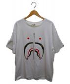 ()の古着「シャークプリントTシャツ」 ホワイト