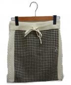 PEARLY GATES(パーリーゲイツ)の古着「ニットスカート」|アイボリー