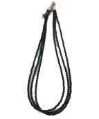 Mysty(ミスティ)の古着「オニキス3連ネックレス」|ブラック