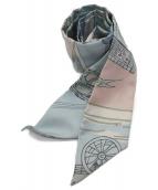 HERMES(エルメス)の古着「ツイリースカーフ」|ブルー