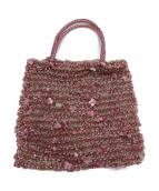 ANTEPRIMA(アンテプリマ)の古着「クローバーワイヤーバッグ」|ピンク
