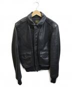 VANSON(バンソン)の古着「A-2ジャケット」 ブラック