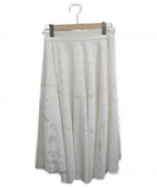 STRAWBERRY FIELDS(ストロベリーフィールズ)の古着「シャンデリアパターンレーススカート」|アイボリー