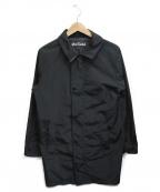 WILD THINGS()の古着「ナイロンステンカラーコート」 ブラック