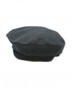 GIORGIO ARMANI(ジョルジョアルマーニ)の古着「リネンベレー帽」|グレー