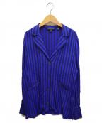 ARMANI EXCHANGE(アルマーニエクスチェンジ)の古着「ストライプシャツ」 ブルー