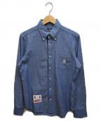 Psycho Bunny(サイコ バニー)の古着「刺繍シャツ」|ブルー