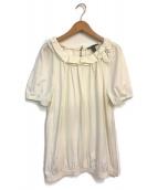 ()の古着「フリルカットソー」 ホワイト