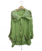 伊太利屋(イタリヤ)の古着「シャツジャケット」|黄緑