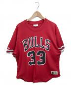 MITCHELL & NESS(ミッチェルアンドネス)の古着「NBAロゴゲームシャツ」|レッド