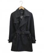 BURBERRY BLACK LABEL()の古着「トレンチコート」 ブラック