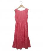 BLUE LABEL CRESTBRIDGE()の古着「ノースリーブワンピース」 ピンク