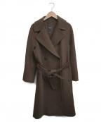WEEKEND Max Mara(ウィークエンド マックスマーラ)の古着「ウールベルテッドチェスターコート」|ブラウン