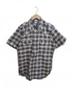 Joe McCOY(ジョーマッコイ)の古着「半袖チェックウエスタンシャツ」|ネイビー