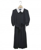 Rirandture(リランドチュール)の古着「襟付レディワンピース」|ネイビー