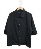 UNITED TOKYO()の古着「ブルゾンハーフスリーブシャツ」|ブラック