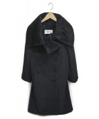 MaxMara(マックスマーラ)の古着「アルパカウールブレンドシャギーコート」|ブラック