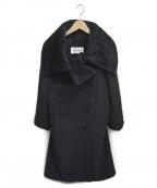 MaxMara()の古着「アルパカウールブレンドシャギーコート」|ブラック