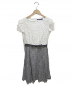 MS GRACY(エムズグレイシー)の古着「ブラウスワンピース」|ホワイト×グレー