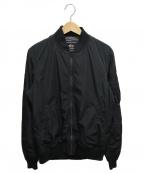 ALPHA()の古着「MA-1ジャケット」 ブラック