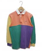 POLO RALPH LAUREN()の古着「クレイジーパターンラガーシャツ」|オレンジ×パープル
