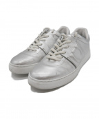 Salvatore Ferragamo()の古着「Metallic Platform Sneakers」 シルバー