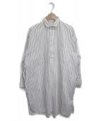 ()の古着「シャツワンピース」|ホワイト×ネイビー