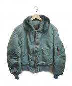 ALPHA(アルファ)の古着「B-15フライトジャケット」|グリーン