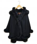 BALMAIN(バルマン)の古着「フォックスファーカシミヤポンチョ」 ブラック