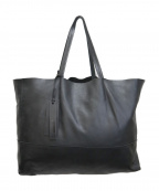 GIANNI CHIARINI(ジャンニキャリーニ)の古着「レザートートバッグ」 ブラック