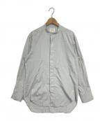 foufou(フーフー)の古着「バンドカラーシャツ」 スカイブルー
