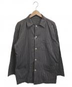 INTERMEZZO(インターメッツォ)の古着「ストライプカバーオール」|ブラウン